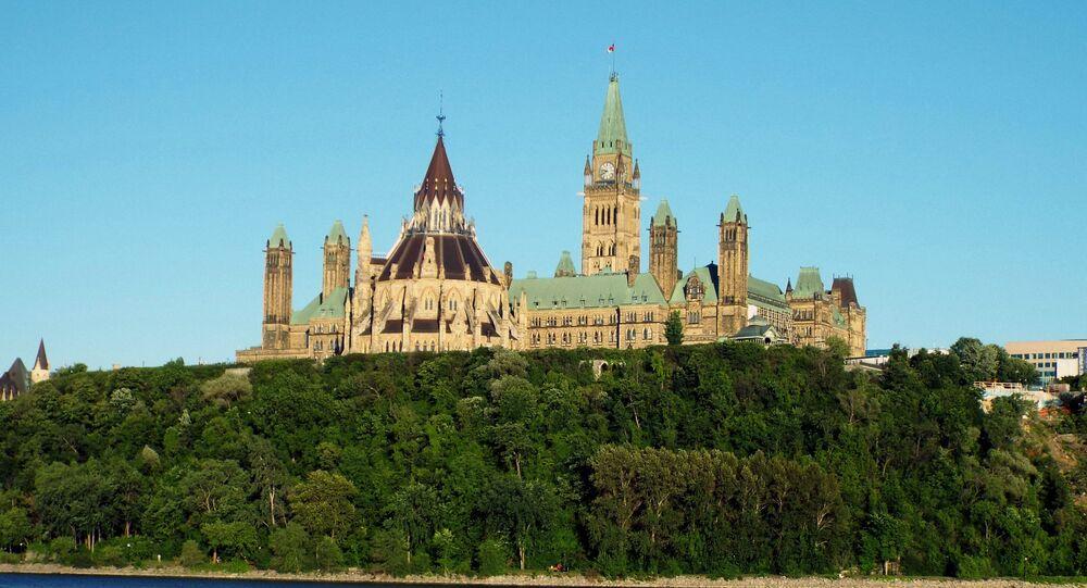 Colina do Parlamento no Canadá