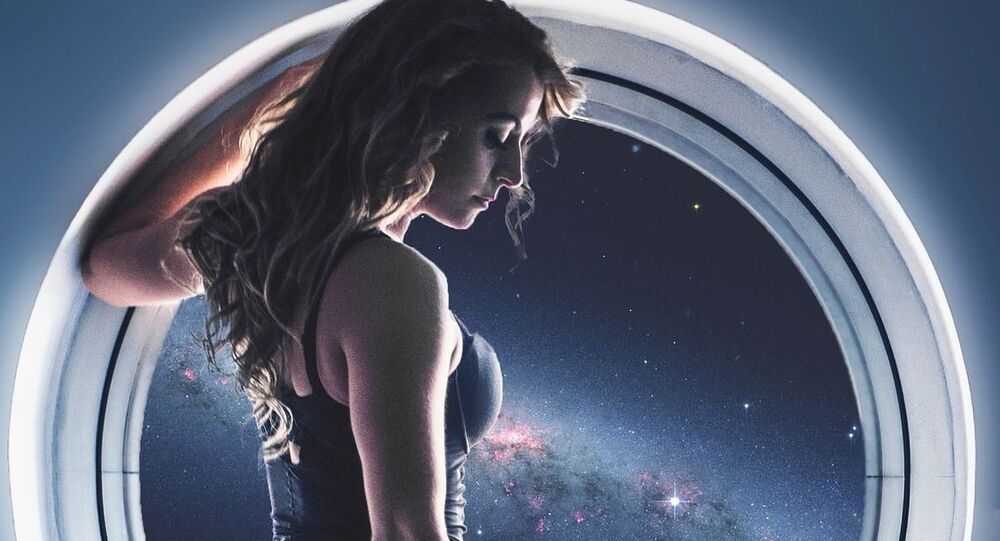 Mulher em uma nave espacial (imagem referencial)