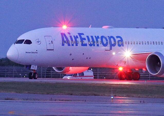 Avião da companhia aérea Air Europa, que estuda entrar no mercado brasileiro