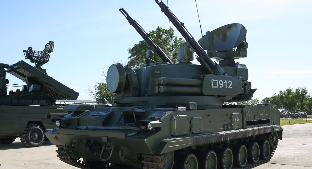 Sistema de defesa antiaérea autopropulsada Tunguska nas competições militares Céu Limpo 2019