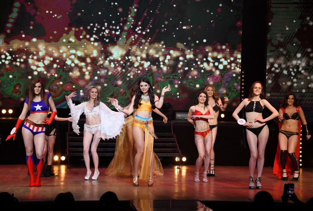 Concorrentes do concurso de beleza Miss Chita 2019, na cidade de Chita, região de Transbaikal