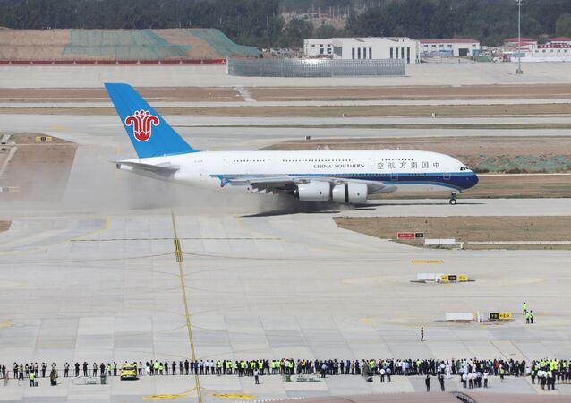Avião Airbus A380 da companhia aérea China Southern Airlines