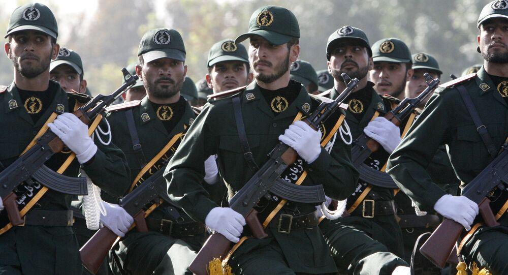 Membros da Guarda Revolucionária Iraniana.