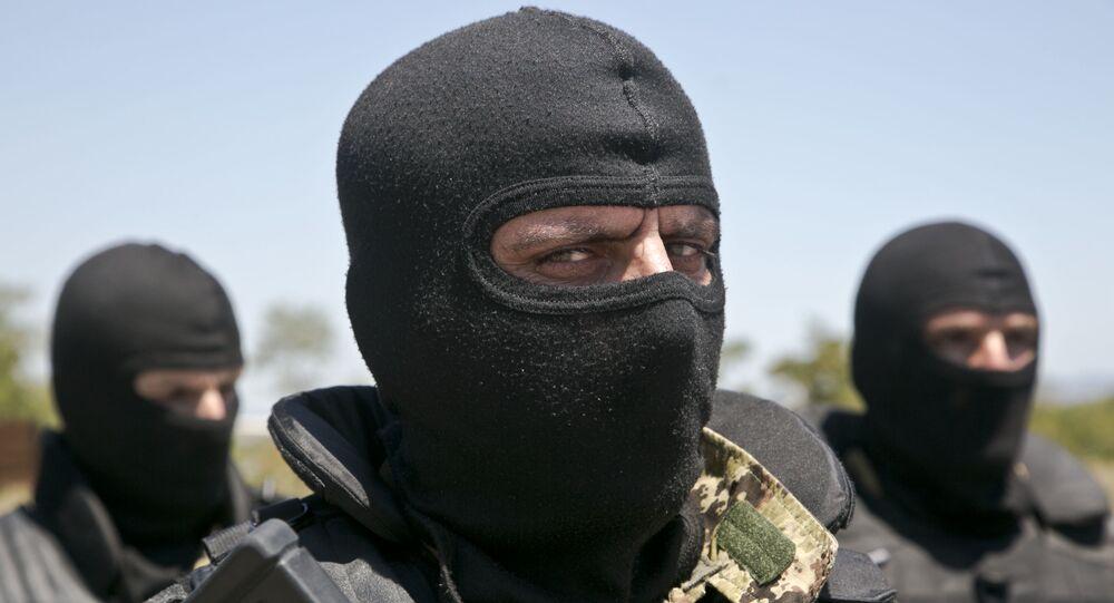 Um militar do Kosovo