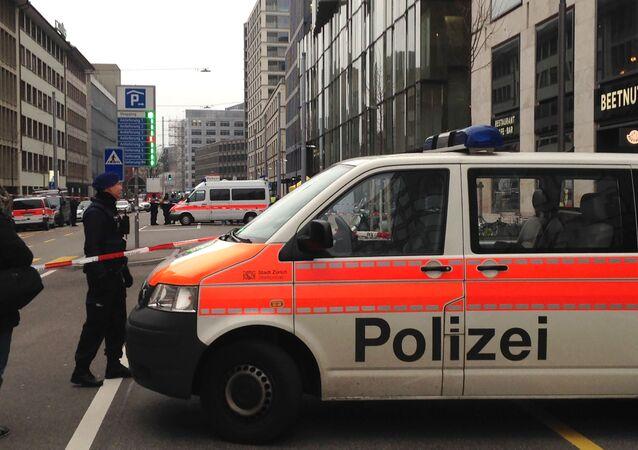 Carro de polícia em Zurique (foto de arquivo)
