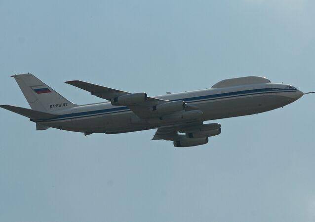 Posto de comando aéreo com base no avião Il-80 (imagem referencial)