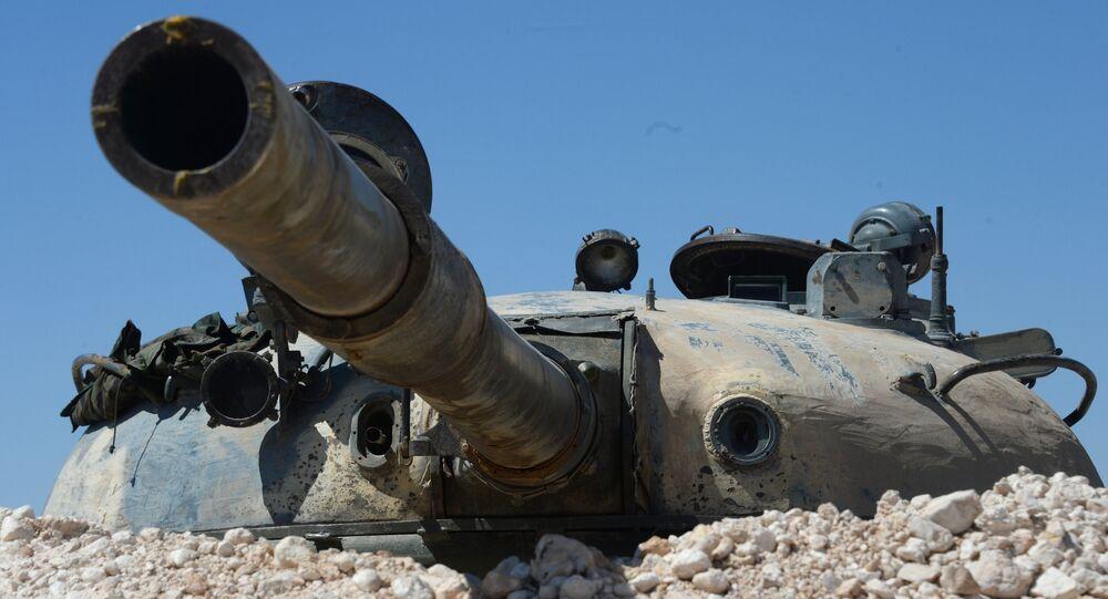 Tanque T-55 na Síria (imagem referencial)