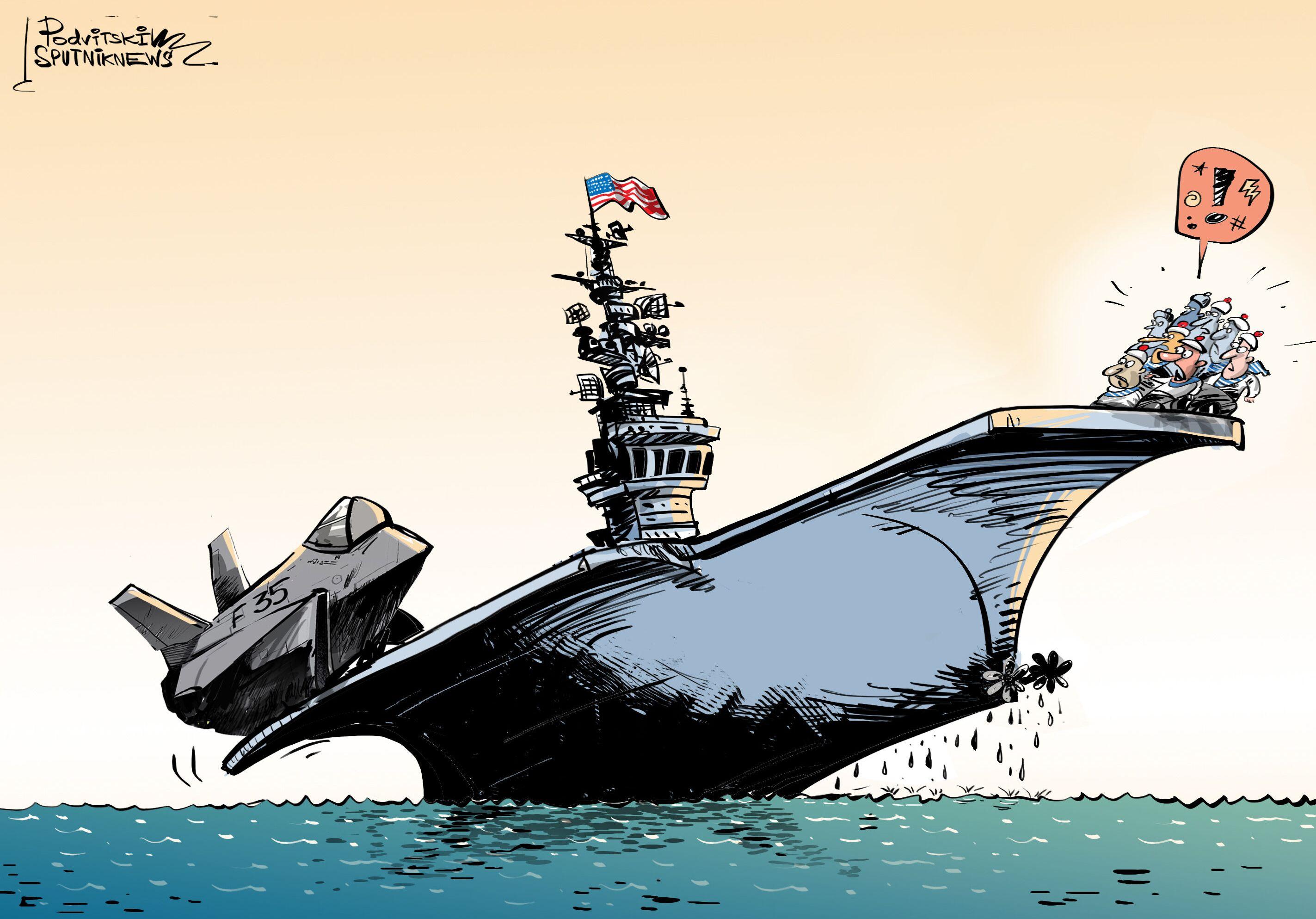 É muita areia para porta-aviões dos EUA