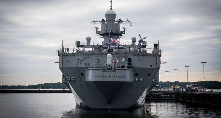 Navio participante dos exercícios navais BALTOPS 2019
