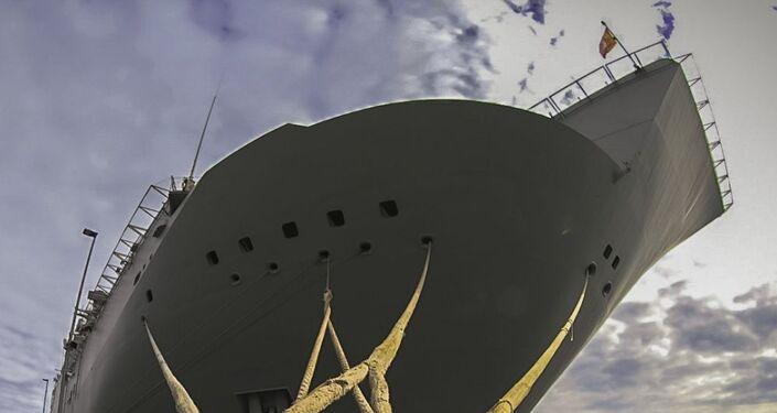 avio de assalto anfíbio da Marinha da Espanha antes dos exercícios navais BALTOPS 2019