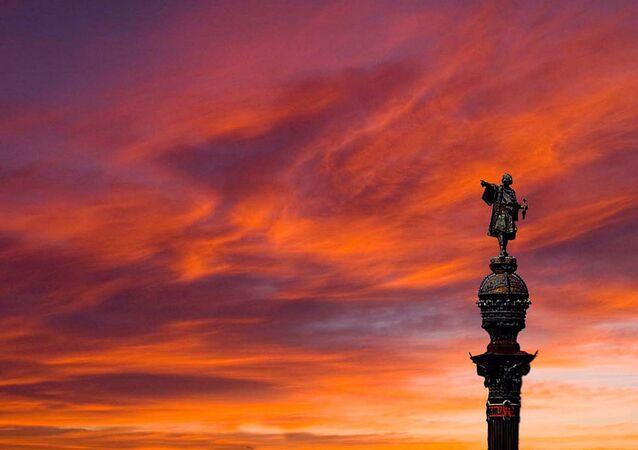 Monumento de Cristovão Colombo em Barcelona