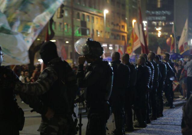Ato da greve geral contra a reforma da Previdência no Rio de Janeiro