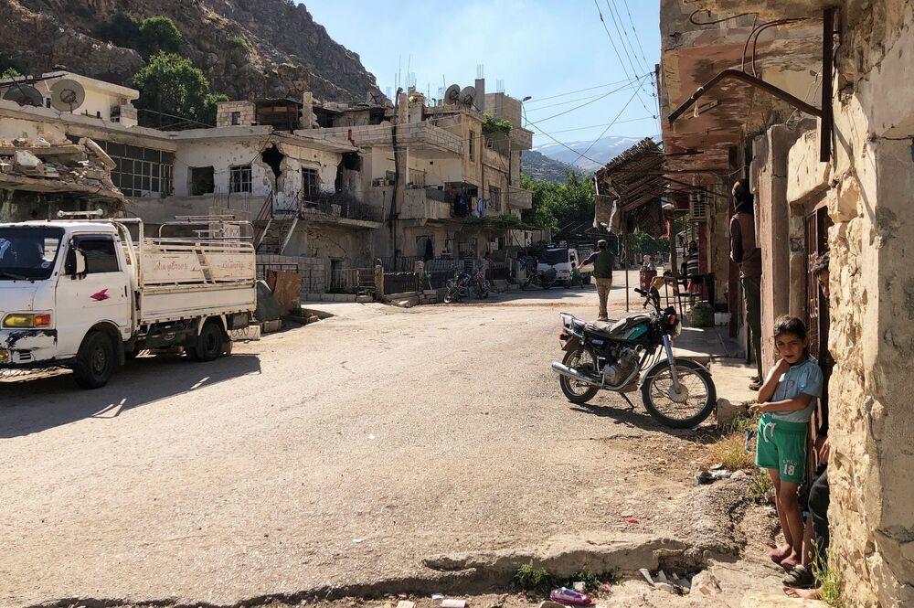 Rua de Beit-Jinn, um povoado no sul da Síria