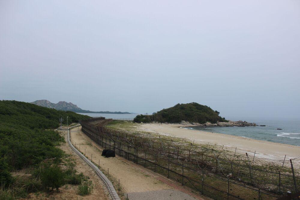 Depois da curva é a saída para o ponto mais setentrional de posicionamento dos militares sul-coreanos