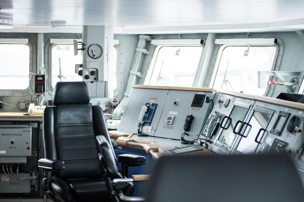 Cabine de comando da corveta russa Sovershenny