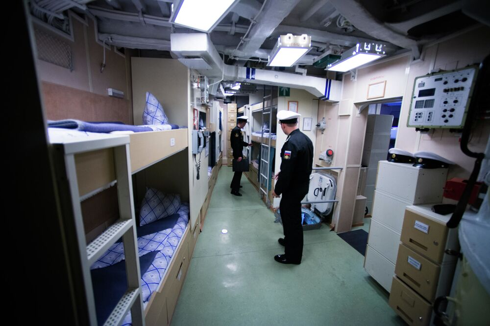 Alojamentos da tripulação na corveta Sovershenny