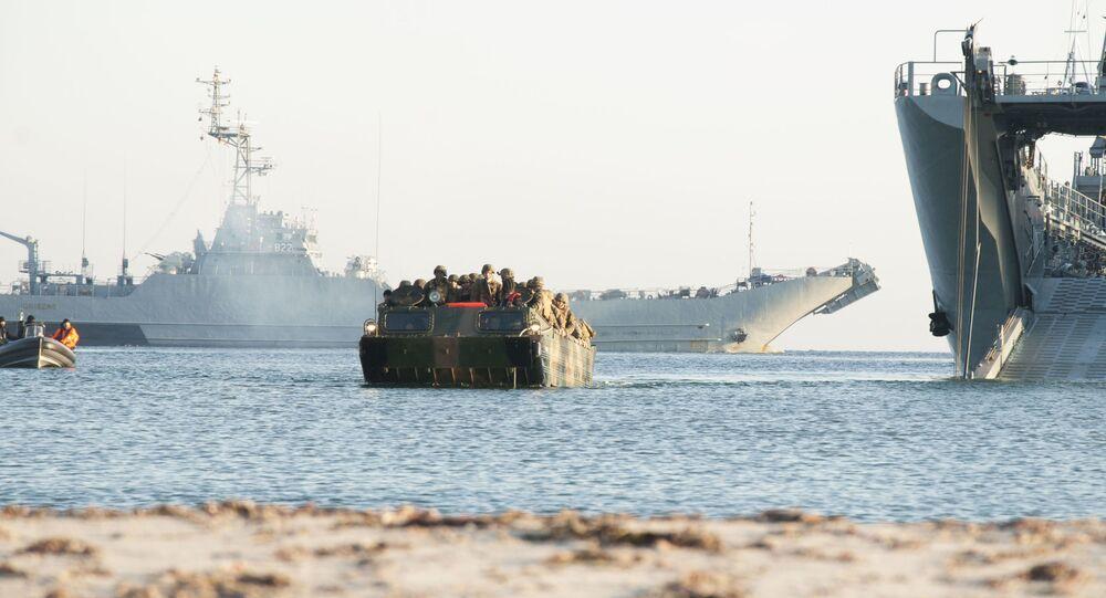 Navio ORP Gniezno da Marinha polonesa durante exercícios militares BALTOPS 2017, em 6 de junho de 2017 (imagem de arquivo)