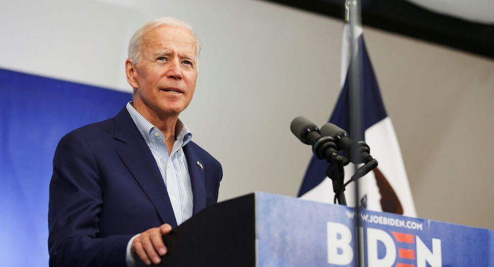 O principal candidato democrata à presidência dos EUA e ex-vice-presidente, Joe Biden
