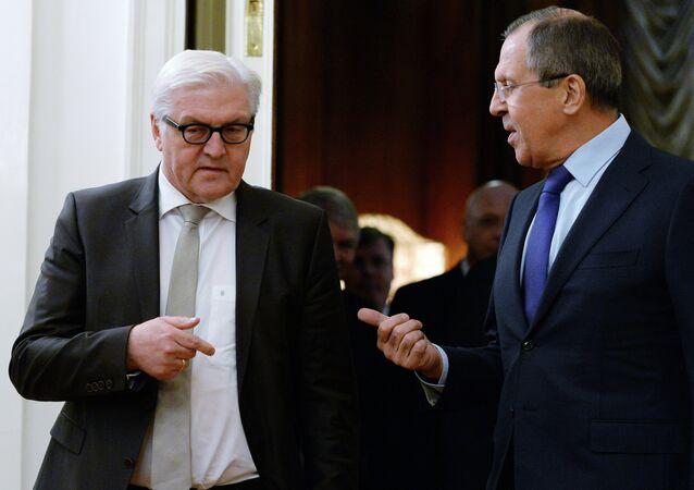 Sergei Lavrov e Frank-Walter Steinmeier