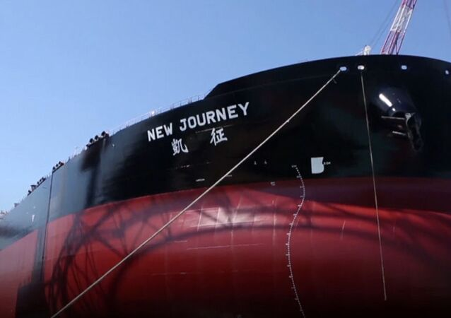 O petroleiro chinês 'inteligente' recém-construído New Journey
