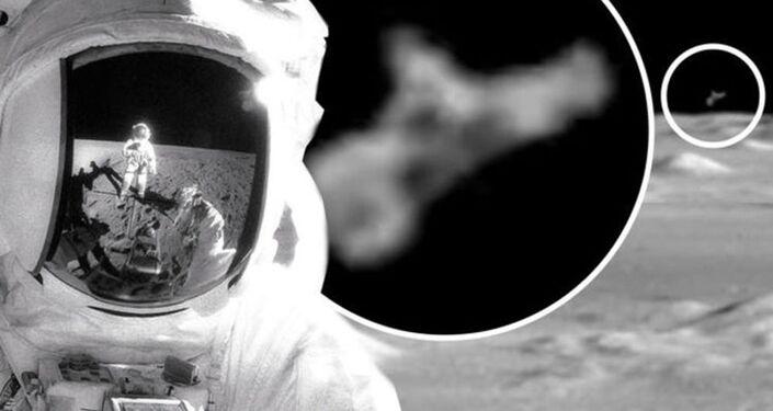 Suposto OVNI observando astronauta da Apollo 12