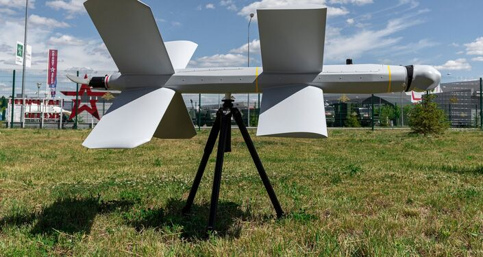 Drone kamikaze russo ZALA Lancet do consórcio de armas russo Kalashnikov, Moscou, Rússia