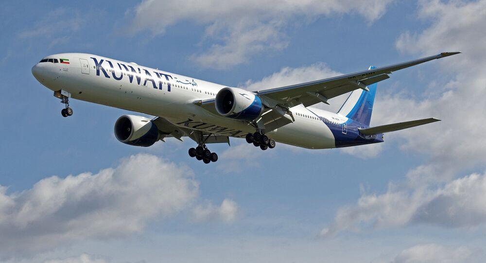 Boeing 777 da companhia Kuwait Airways (imagem de arquivo)