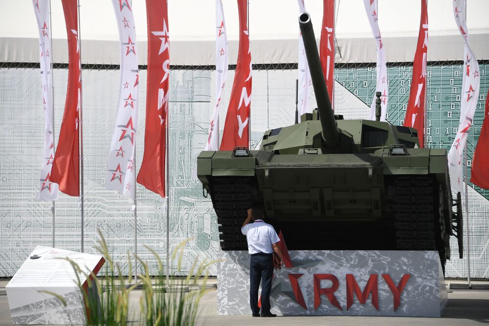 Tanque T-14 Armata no fórum internacional técnico-militar EXÉRCITO 2019