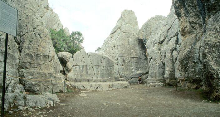 Santuário Yazilikaya em Hattusa, capital do Império Hitita