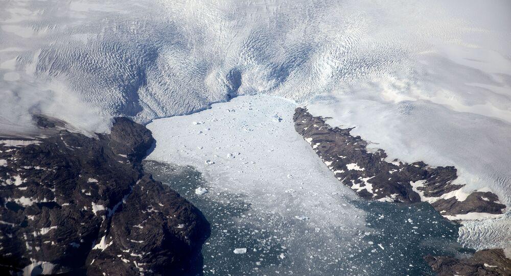 Degelo de geleira na Groenlândia