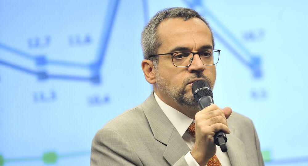 Ministro da Educação, Abraham Weintraub, participa de audiência conjunta de comissões da Câmara, Brasília, 22 de maio de 2019