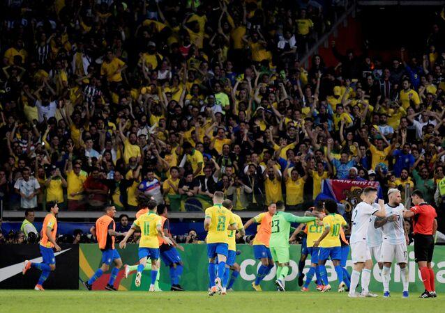 Seleção brasileira vence a Argentina e se classifica para a final da Copa América, 2 de julho de 2019