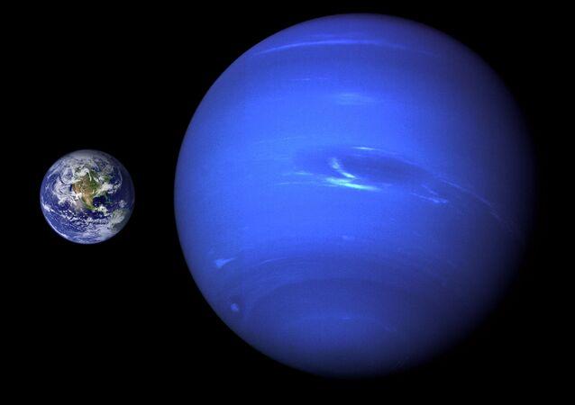 Terra em torno de Netuno