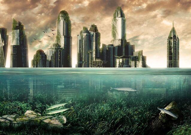 Arranha-céus subaquáticos (imagem ilustrativa)