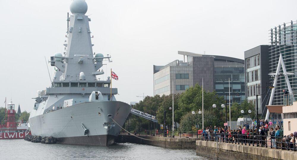 Destróier HMS Duncan (foto de arquivo)