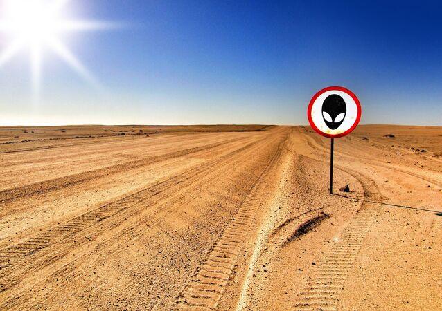 Estrada para  Área 51 (imagem referencial)