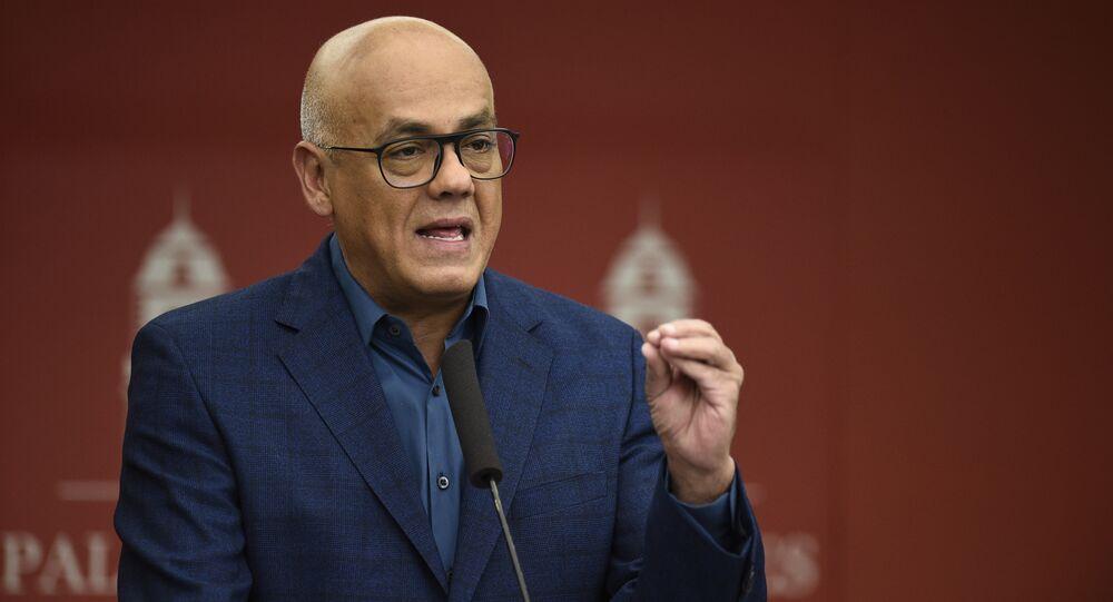 Ministro das Comunicações da Venezuela, Jorge Rodríguez