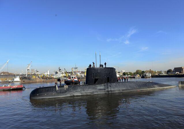 Submarino ARA San Juan, foto da Marinha da Argentina
