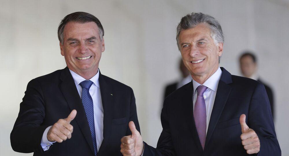 Presidente Bolsonaro encontra o presidente Macri para almoço no Itamaraty em 16 de janeiro 2019