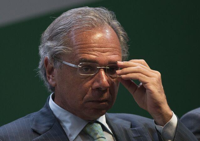 Paulo Guedes, ministro da Economia do Brasil durante o governo do presidente Jair Bolsonaro (arquivo)