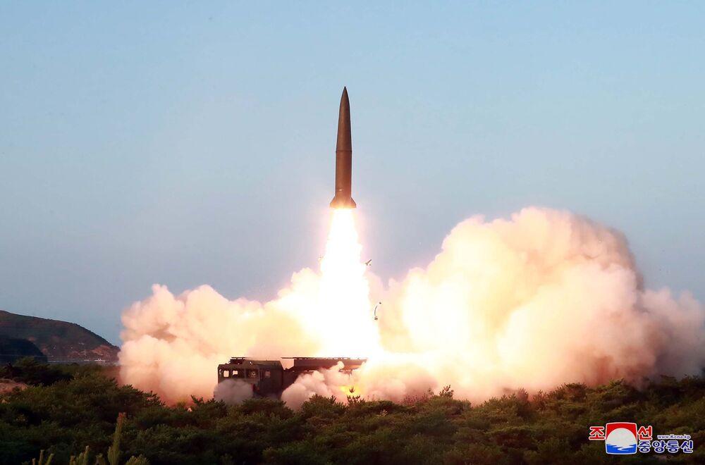 Lançamento de míssil balístico de curto alcance na Coreia do Norte
