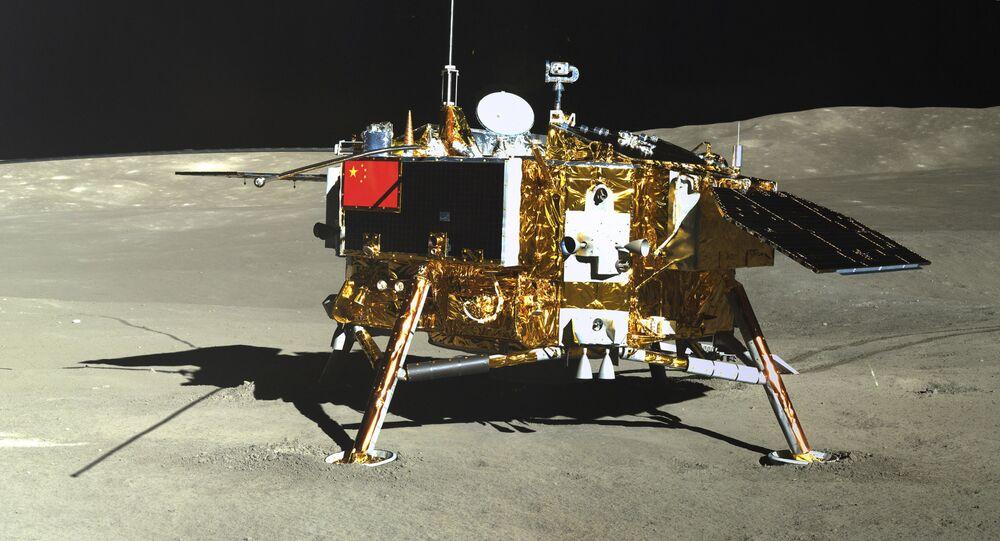 Chang'e 4 na Lua, em 12 de janeiro de 2019