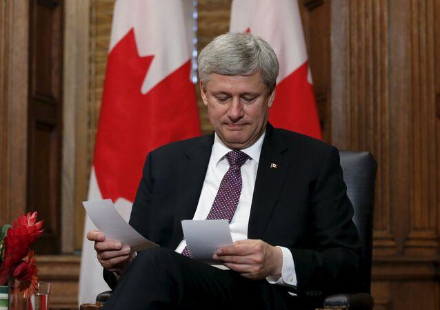 Stephen Harper, el primer ministro de Canadá