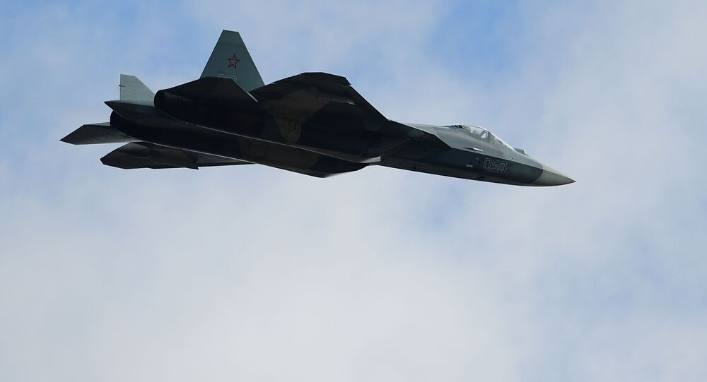 Caça russo Su-57 (imagem referencial)