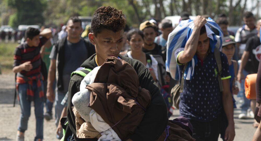 Caravana de migrantes da América Central (foto de arquivo)