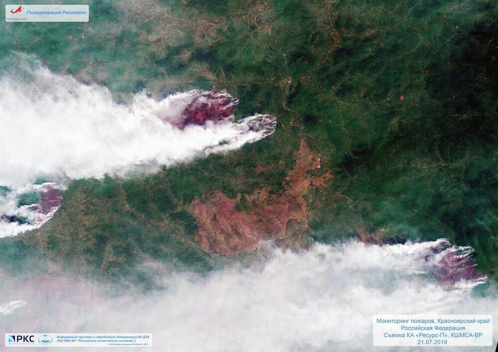 Monitorização das áreas de catástrofes ambientais a partir de satélite russos de sensoriamento remoto da Terra