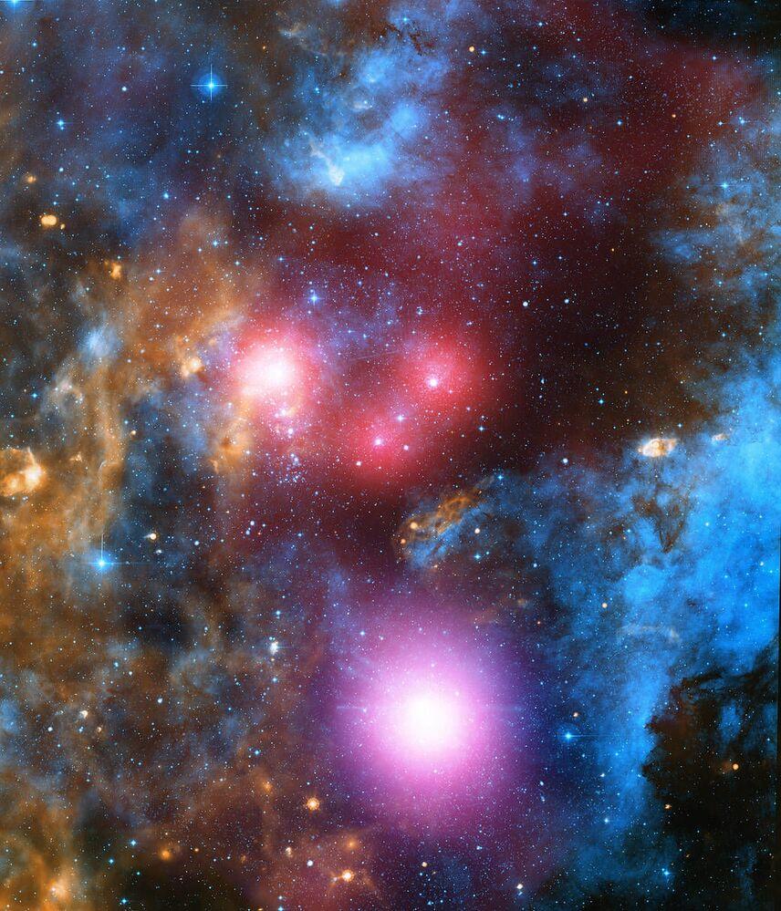 Grupo estelar massivo conhecido como associação Cygnus OB2