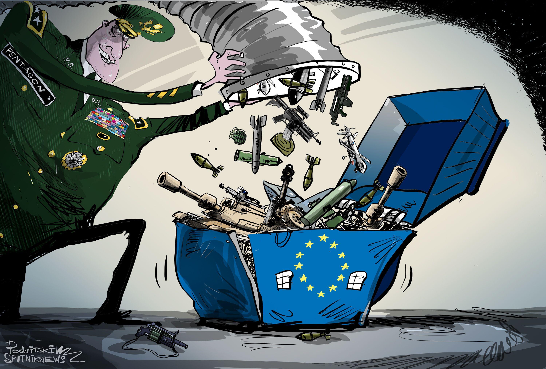 Armas aos montes dos EUA para Europa
