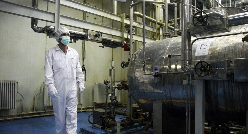 Instalação nuclear iraniana a 410 km de Isfahan em 3 de fevereiro de 2007