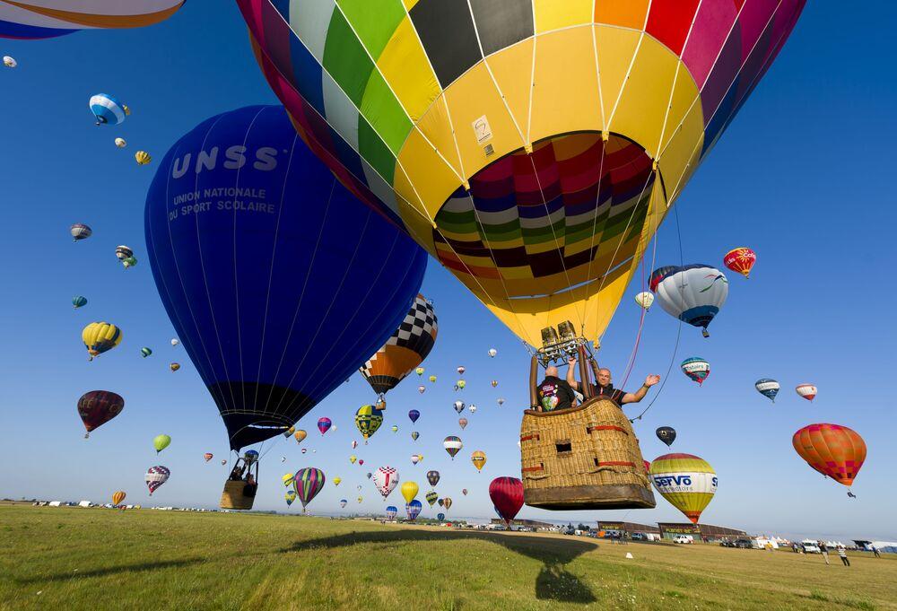 Festival de balões na França